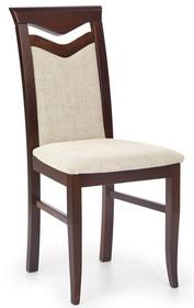 Krzesło do jadalni CITRONE ciemny orzech