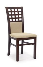 Krzesło GERARD 3 - ciemny orzech/beż