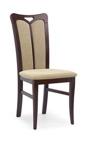 Krzesło HUBERT 2 - ciemny orzech/beż