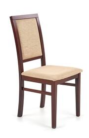 Krzesło SYLWEK 1 - ciemny orzech/beż
