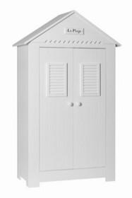 Szafa dwudrzwiowa z kolekcji Marsylia wyposażona jest w charakterystyczny dla kolekcji Marsylia dekor La Plage (fr. plaża). Wewnątrz posiada dwie półki...