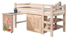 Wysokie łóżko Pinio pod materac 190x90 cm przeznaczone jest do pokoju dziecięcego dziecka w wieku przedszkolnym i szkolnym. Stanowi solidną konstrukcję...