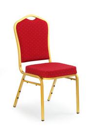 Krzesło K66 - bordowy/złoty
