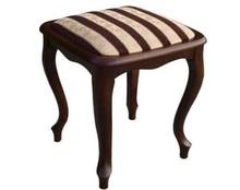 Stylowy taboret Ludwik, stelaż wykonany z drewna dębowego, siedzisko i oparcie tapicerowane. Krzesła wysyłane w całości.  Produkt wykonywany na...