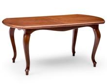 Stylowy stół Ludwik, skrzynia i nogi wykonane z drewna dębowego, blat w okleinie naturalnej dębowej Stół rozkładany, wkładki trzymane w stole. ...