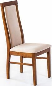 Nowoczesne krzesło do jadalni, stelaż wykonany z drewna bukowego, siedzisko i oparcie tapicerowane.   Produkt wykonywany na indywidualne zamówienie i...
