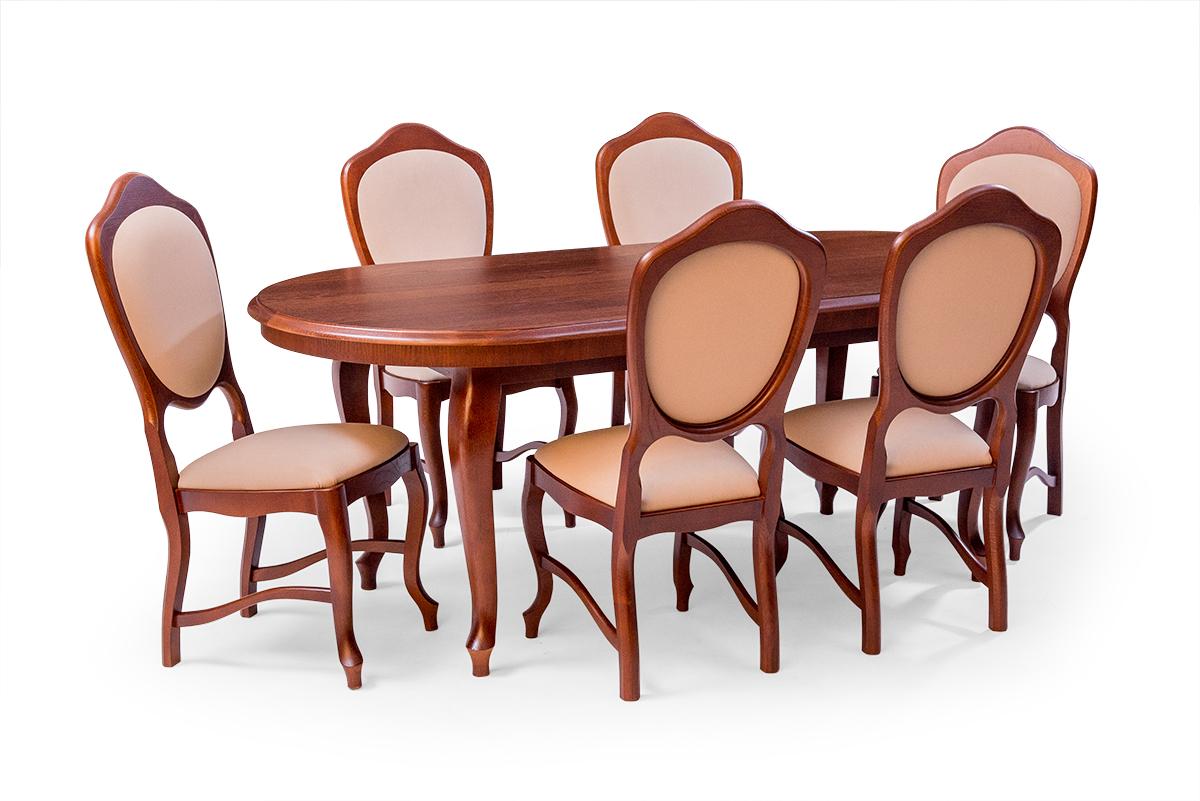 stylowe krzesła dębowe ludwiki