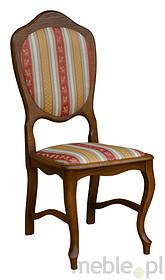 Stylowe krzesło Ludwik  Stelaż wykonany z drewna bukowego lub dębowego, siedzisko i oparcie tapicerowane. Krzesła wysyłane w całości.   Istnieje...