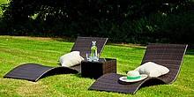 Leżanki ogrodowe SUCCESSO - komplet  Dzięki leżankom ogrodowym SUCCESSO można się wygodnie rozłożyć z twarzą zwróconą ku słońcu. Romantyczna...
