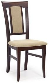 Krzesło KONRAD - ciemny orzech/tap.