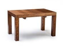 Nowoczesny drewniany stół KARLOS, oskrzynia i nogi wykonane z drewna dębowego, blat płyta okleinowana fornirem naturalnym. Stół rozkładany co 50cm, 2...