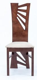 Nowoczesne krzesło do jadalni Miron, stelaż wykonany z drewna bukowego, siedzisko tapicerowane. Wysokość : 103 cm Szerokość : 44 cm Głębokość : 40...
