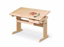 Biurko dziecięce regulowane JULIA - drewno sosnowe