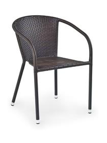 Krzesło ogrodowe MIDAS - ciemny brąz
