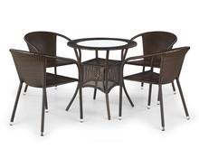 Stół ogrodowy MIDAS - ciemny brąz