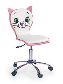 Fotel dziecięcy KITTY II - biały/różowy