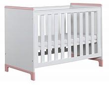 Łóżeczko pod materac 120x60cm z kolekcji Mini przeznaczone dla niemowlaka. Posiada trzy poziomy wysokości materaca oraz dwa wyciągane szczebelki. Dzięki...