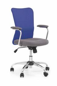 Fotel biurowy ANDY - szaro-niebieski