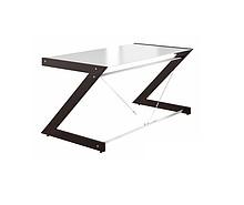 Biurko Main Desk Soft Line - Blat biurka wykonany z hartowanego białego szkła o grubości 8 mm. - Szklany blat umieszczony jest na gumowych...