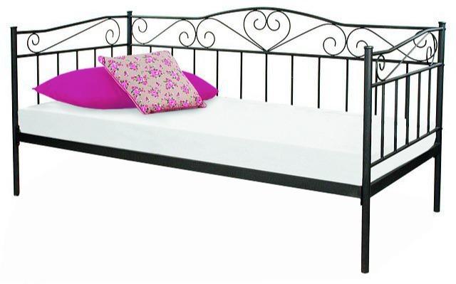 łóżko Birma 90x200 Czarny