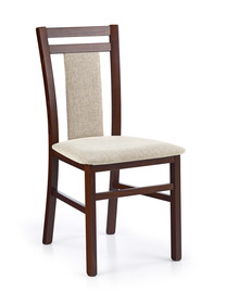 Krzesło HUBERT 8 - ciemny orzech/beż