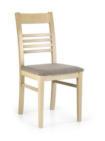 Krzesło drewniane JULIUSZ - dąb sonoma/szary