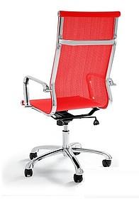 Drafty to oryginalne krzesło biurowe o nowoczesnej stylistyce. Chromowany stelaż siedziska wykończony jest siatką materiałową – rozwiązanie to...