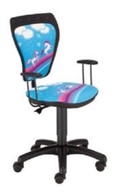 Kolorowy fotel dziecięcy CARTOONS LINE GTP z opcją podłokietników