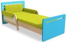 Łóżko z kolekcji Simple to mebel, który rośnie razem z Twoim dzieckiem! Jego długość jest regulowana w zakresie od 165 do 205 cm. Boczne płyty z...