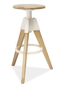 Czym jest nowoczesność? Stwórz własna definicję! Gustowny dębowy stołek barowy BODO to doskonały sposób, aby wprowadzić do swojego mieszkania powiew...