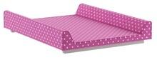 Przewijak do łóżeczka 120x60 z kolekcji Elle. Dostępny w wielu opcjach tkanin tapicerowanych. Wymiary: - wysokość: 10 cm - szerokość: 50 cm -...