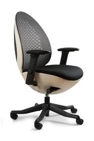 Fotel obrotowy OVO biały + czarny