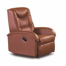 Fotel tapicerowany JEFF - brązowy