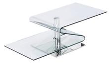 Stolik wykonany ze szkła transparentnego typu FLOAT,<br />fazowanego, polerowanego oraz szlifowanego na krawędziach.<br />Podstawa metalowa w...