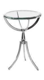 Stolik szklany COPERNIKUS - szkło, stal nierdzewna