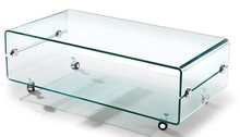 Stolik szklany PANORAMA transparentny - szkło
