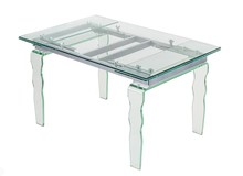 Blat i falowane nogi stołu wykonane zostały ze szkła, <br />blat o grubości 10 mm, nogi 20 mm.<br />Blat i nogi wykonane są ze szkła FLOAT,...