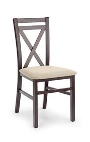 Krzesło DARIUSZ - ciemny orzech/beż
