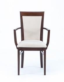 Krzesło wykonane z drewna bukowego z podłokietnikami Wysokość : 93 cm Szerokość : 46 cm Głębokość : 54,5 cm Wysokość siedziska : 47 cm ...