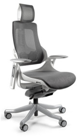 Nowoczesny i funkcjonalny fotel obrotowy! - Zagłówek, oparcie i siedzisko wykonane z wysokiej jakości siatki materiałowej przepuszczającej powietrze -...
