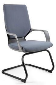 Fotel na płozach APOLLO SKID czarny/szary