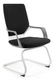 Fotel na płozach APOLLO SKID - czarny/biały