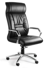 - Siedzisko i oparcie pokryte wysokiej jakości czarną skórą naturalną - Podłokietniki wykonane z chromowanego metalu - Mechanizm TILT PLUS, możliwość...