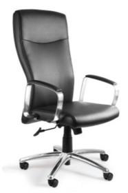 - Siedzisko i oparcie pokryte wysokiej jakości czarną skórą naturalną -Podstawa jezdna i podłokietniki wykonane z aluminium - Mechanizm odchylania TILT...