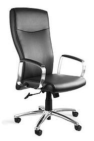 - Siedzisko i oparcie pokryte wysokiej jakości czarną eko-skórą - Podstawa jezdna i podłokietniki wykonane z aluminium - Mechanizm odchylania TILT plus,...