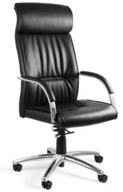 - Siedzisko i oparcie pokryte wysokiej jakości czarną skórą naturalną - Podłokietniki wykonane z chromowanego metalu -Mechanizm TILT PLUS, możliwość...