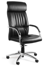 - Siedzisko i oparcie pokryte wysokiej jakości czarną eko-skórą - Podłokietniki wykonane z chromowanego metalu - Mechanizm TILT PLUS, możliwość...
