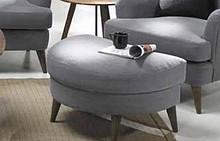 Pufa/podnóżek do fotela ENJOY  Produkt najwyższej jakości. Produkowany na wyjątkowo wymagający rynek skandynawski.  Rama z drewna sosnowego ze...