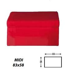 Pufa MIDI 80 z pojemnikiem .  Produkt najwyższej jakości. Produkowany na wyjątkowo wymagający rynek skandynawski.  Rama z drewna sosnowego. ...