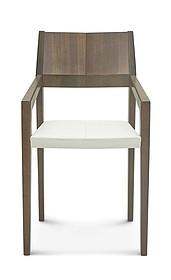 Drewniane krzesło z opcją tapicerowanego siedziska B-1403 dębowe